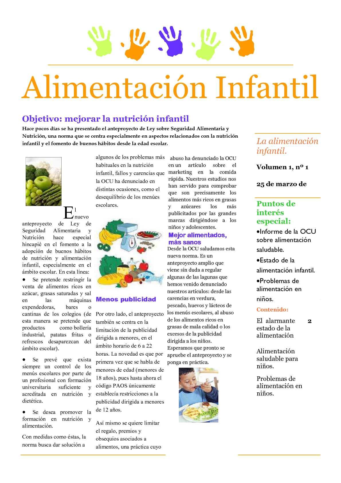 Boletín Alimentación Saludable