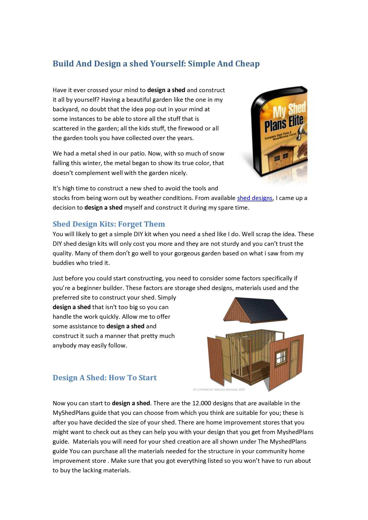Calameo How To Design A Shed Inexpensive And Build It Yourself