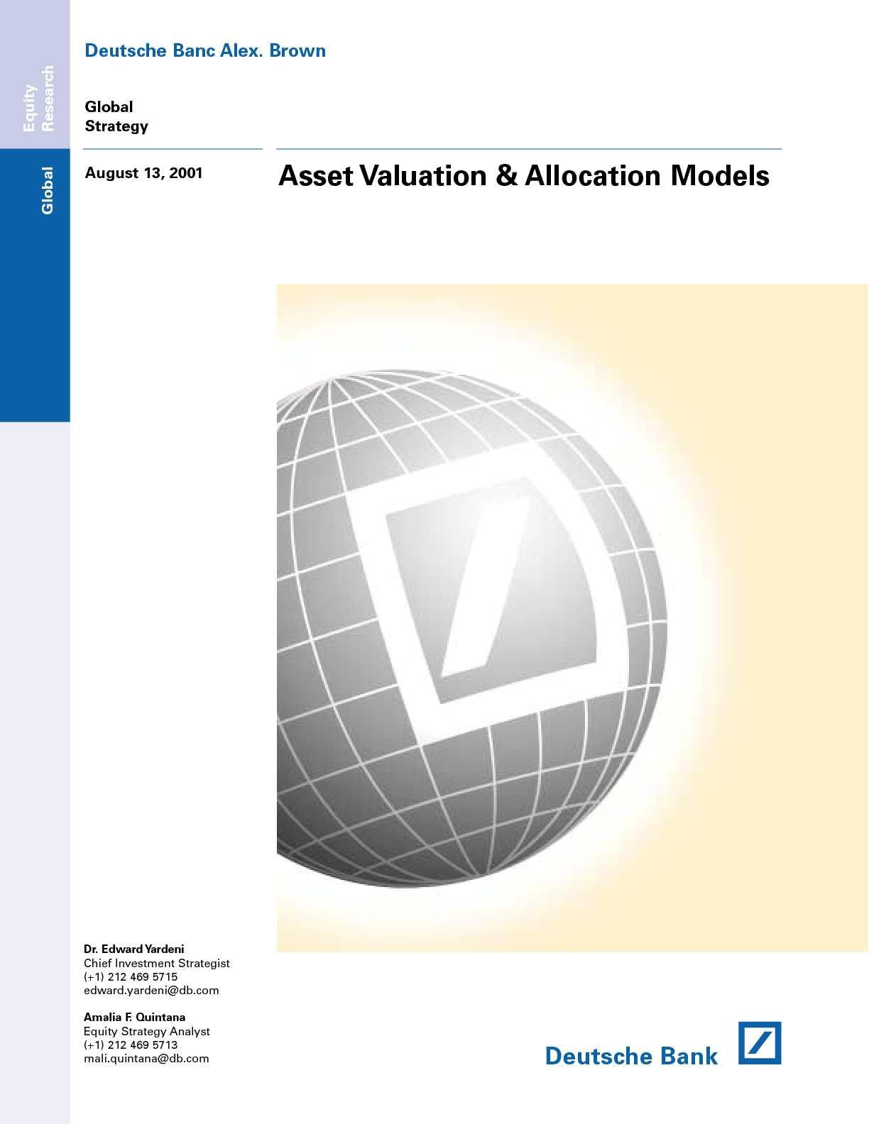 Asset Valuation & Allocation