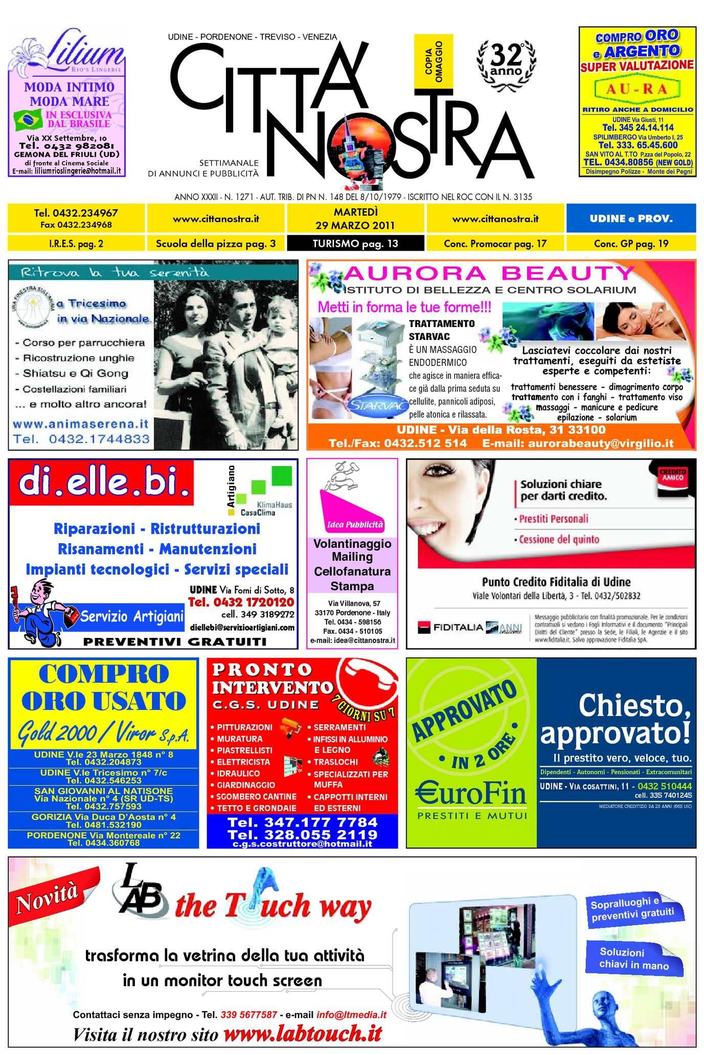 Calaméo - Città Nostra Udine del 29.03.2011 n. 1271 aa162e92b0c
