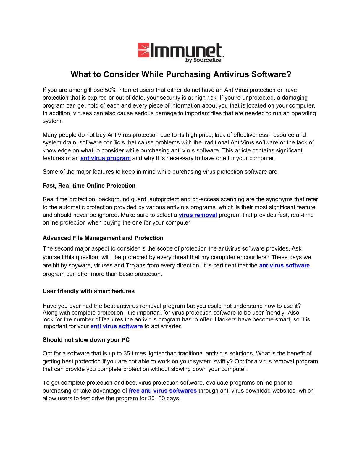 Calaméo - What to Consider While Purchasing Antivirus Software?