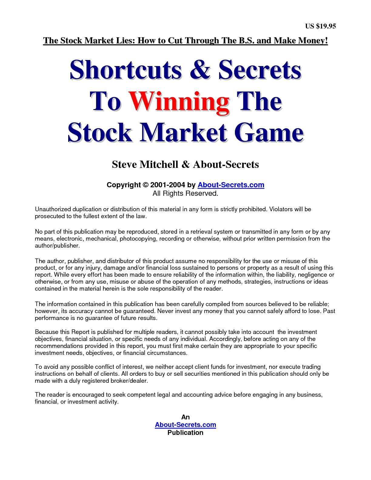 Calaméo - Steve Mitchell - Shortcuts & Secrets To Winning