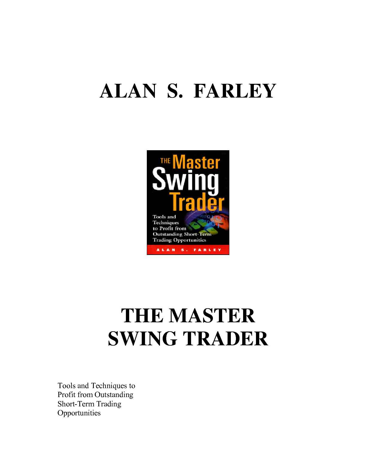 Calaméo - alan farley - the master swing trader (1)