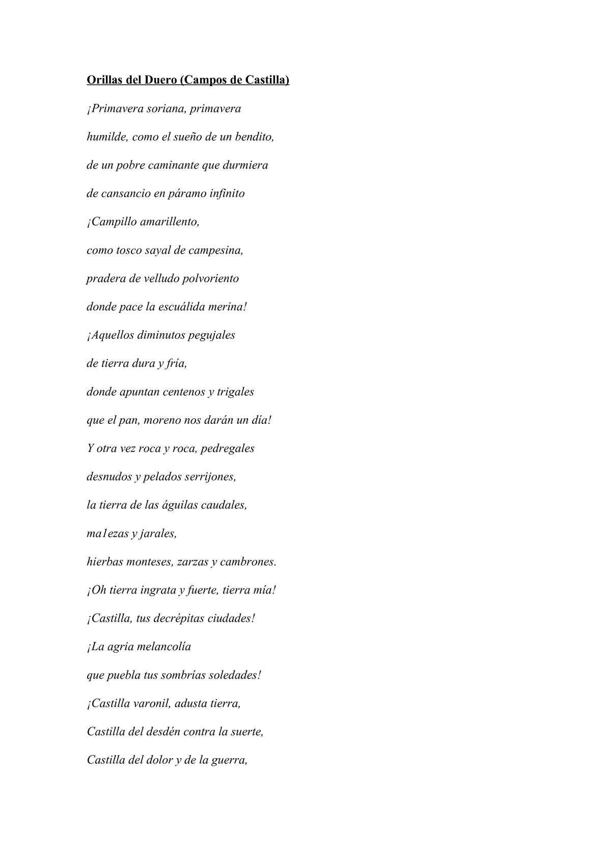 Calaméo Poemas De Antonio Machado Explicados Y Con Imágenes