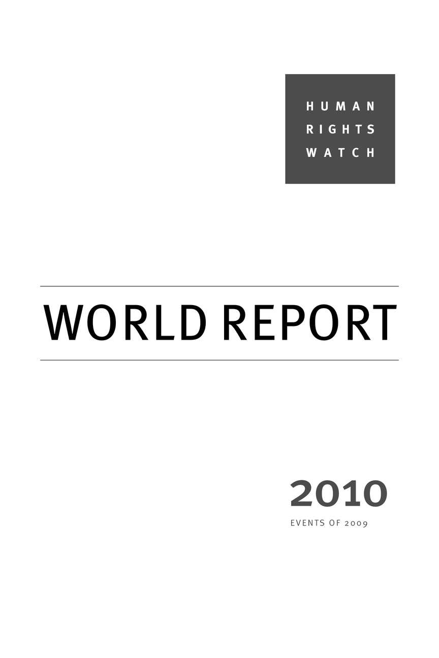 Calaméo Human Right Watch World Report 2010