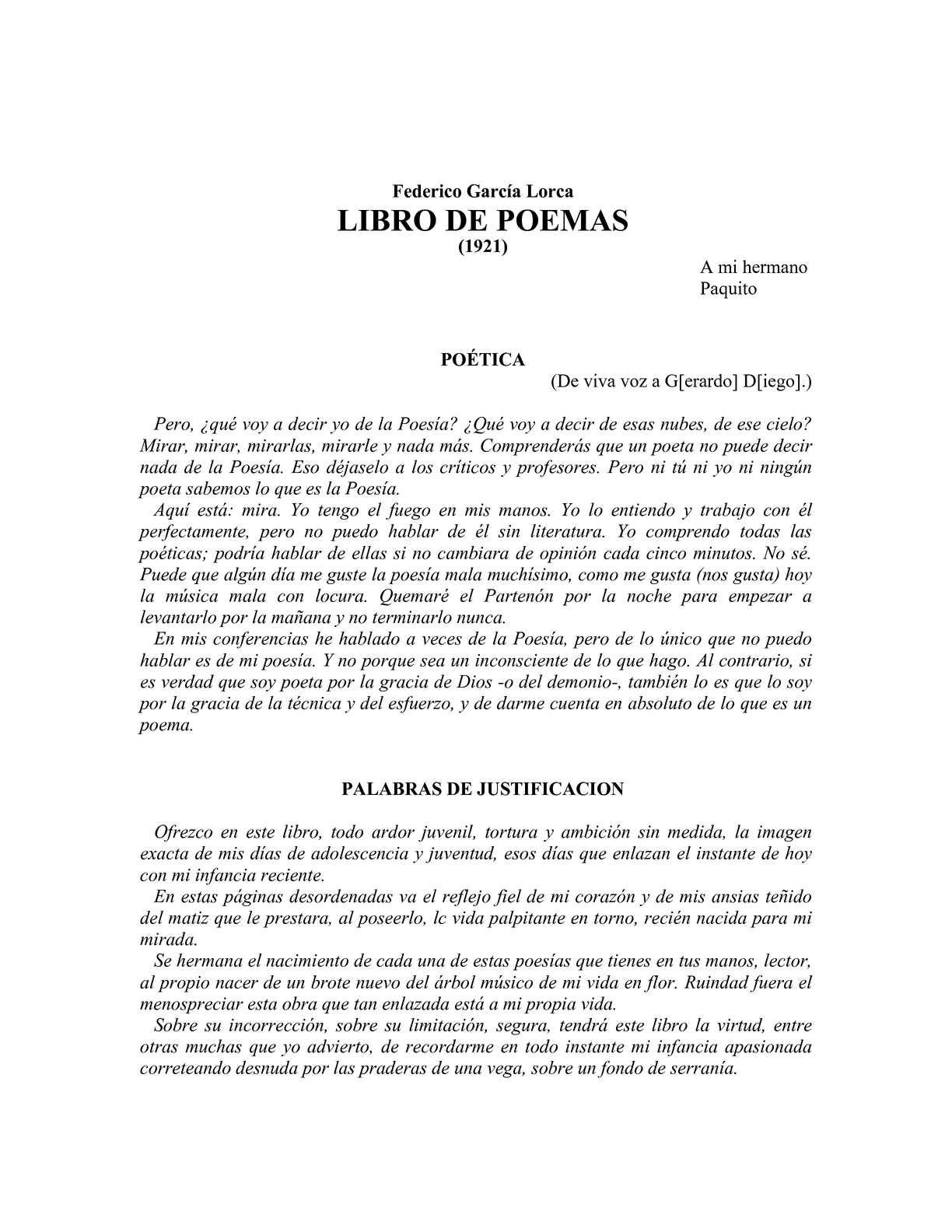 Calaméo Poemas Garcia Lorca