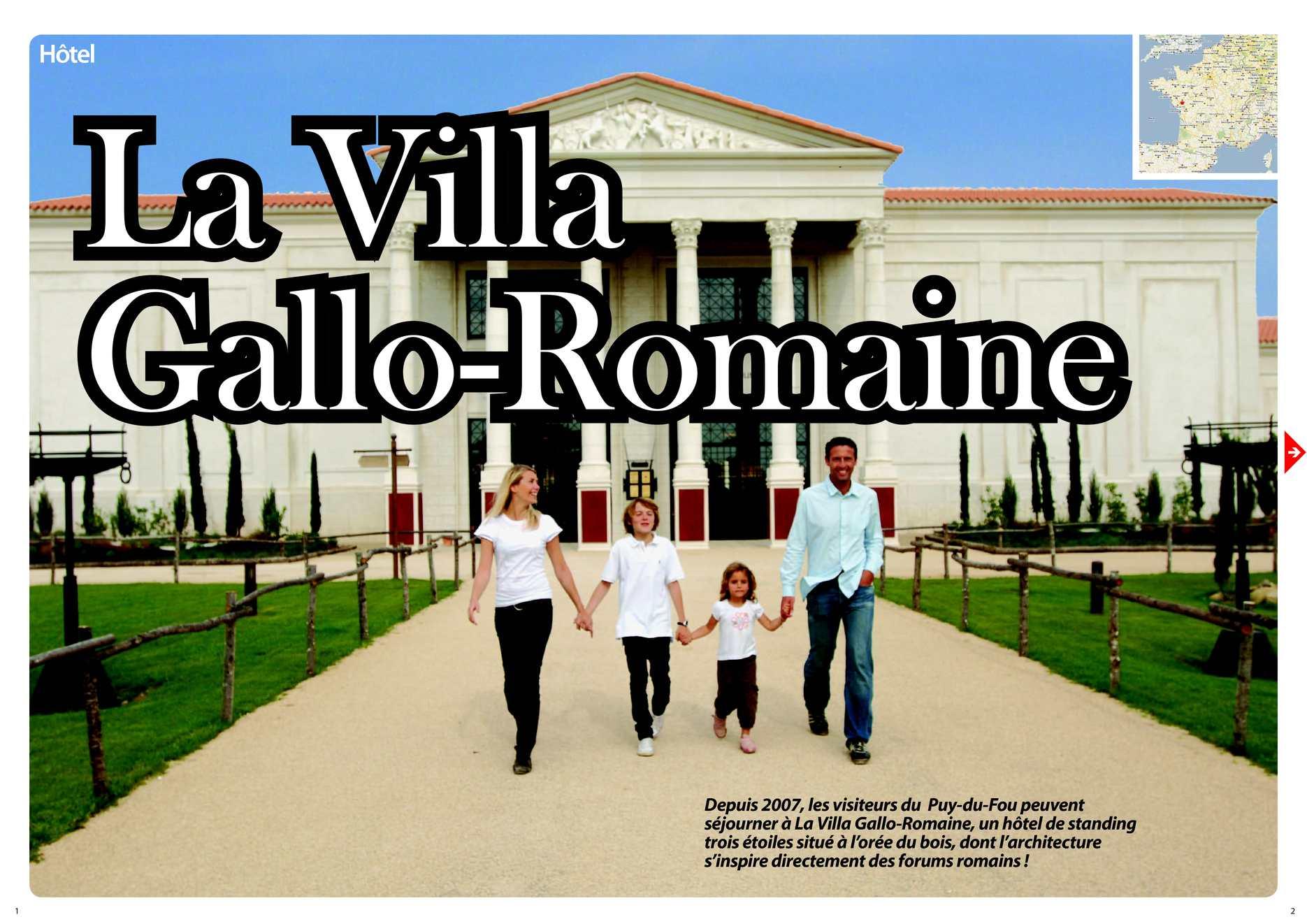 calam o h tel villa gallo romaine au puy du fou. Black Bedroom Furniture Sets. Home Design Ideas