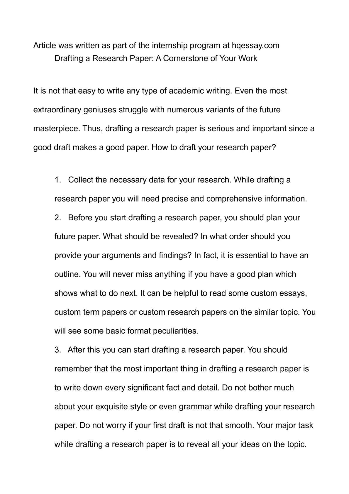 Draft Research Paper