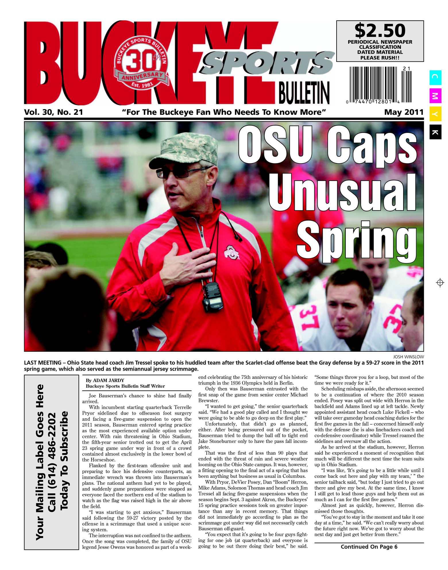 Calaméo - Buckeye Sports Bulletin May 2011 Digital Edition