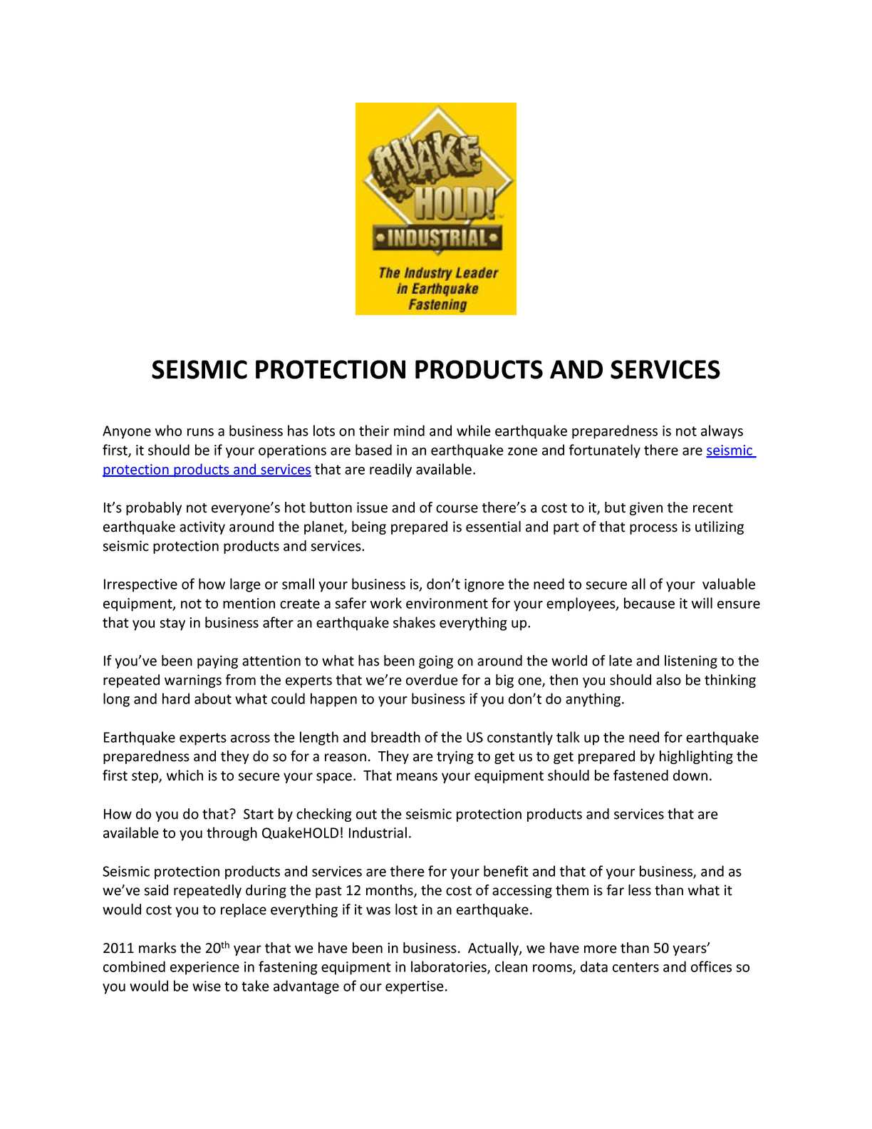 20+ Calaméo   SEISMIC PROTECTION PRODUCTS AND SERVICES Kollektion