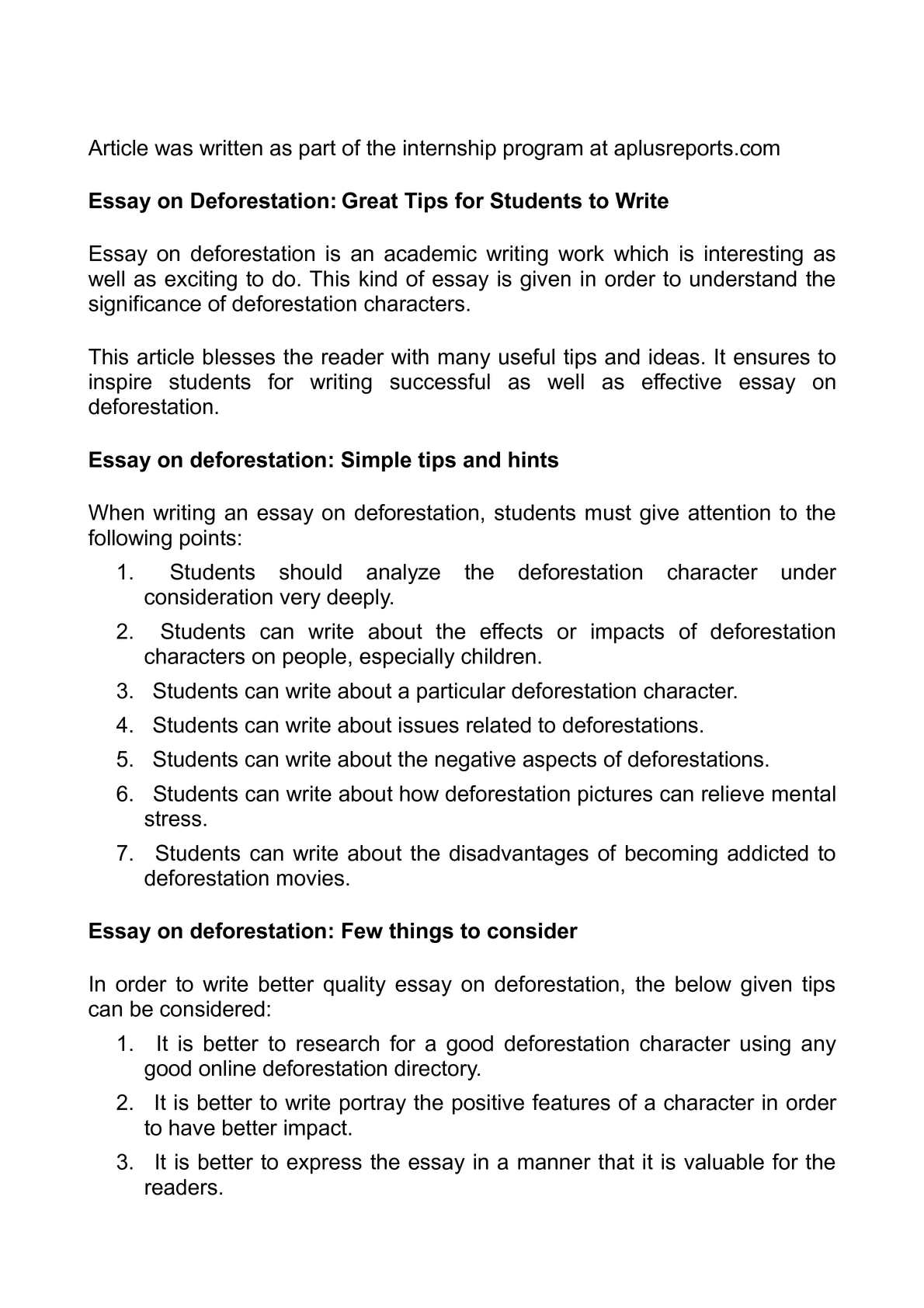 calam eacute o essay on deforestation great tips for students to write