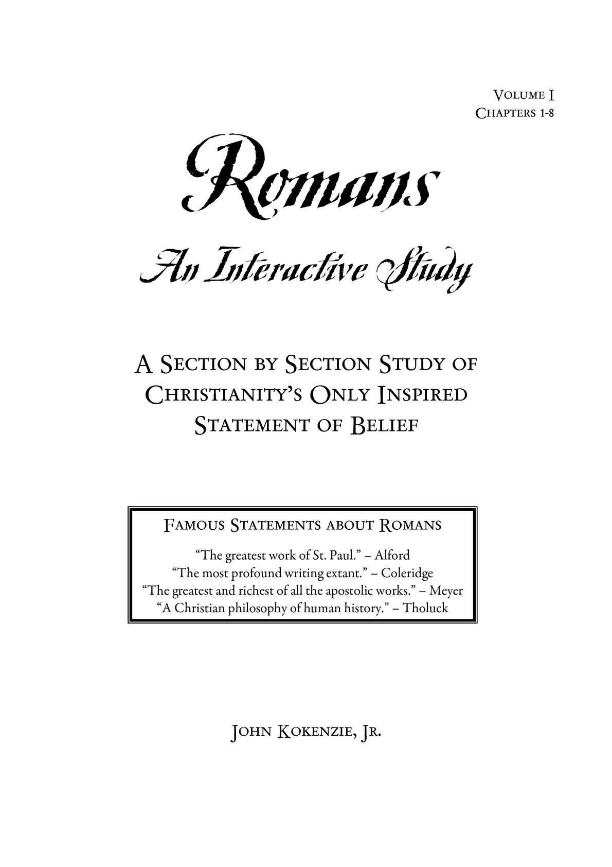 Calaméo - Romans: An Interactive Study v 1 chs  1-8
