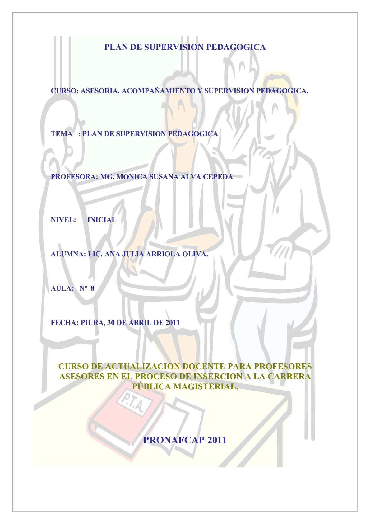 Calameo Plan De Supervision