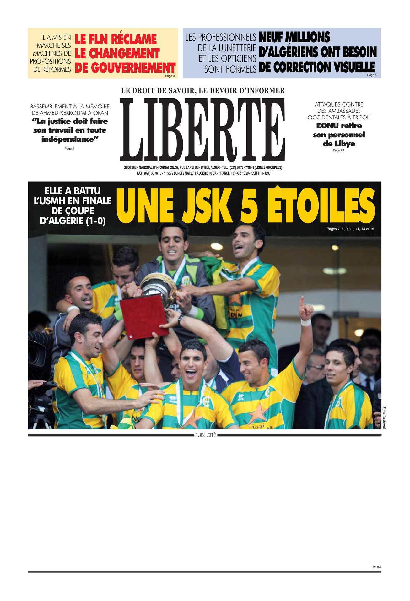 93a308a4b65 Calaméo - LIBERTE ALGERIE (liberte-algerie.com) du 02 Mai 2011