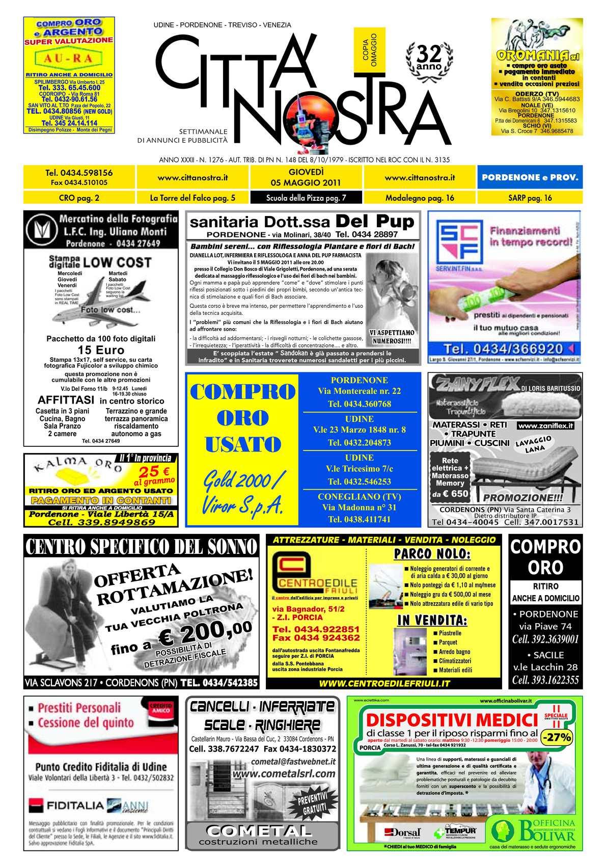 Ln Gazebo E Cuscino Srl.Calameo Citta Nostra Pordenone Del 05 05 2011 N 1276