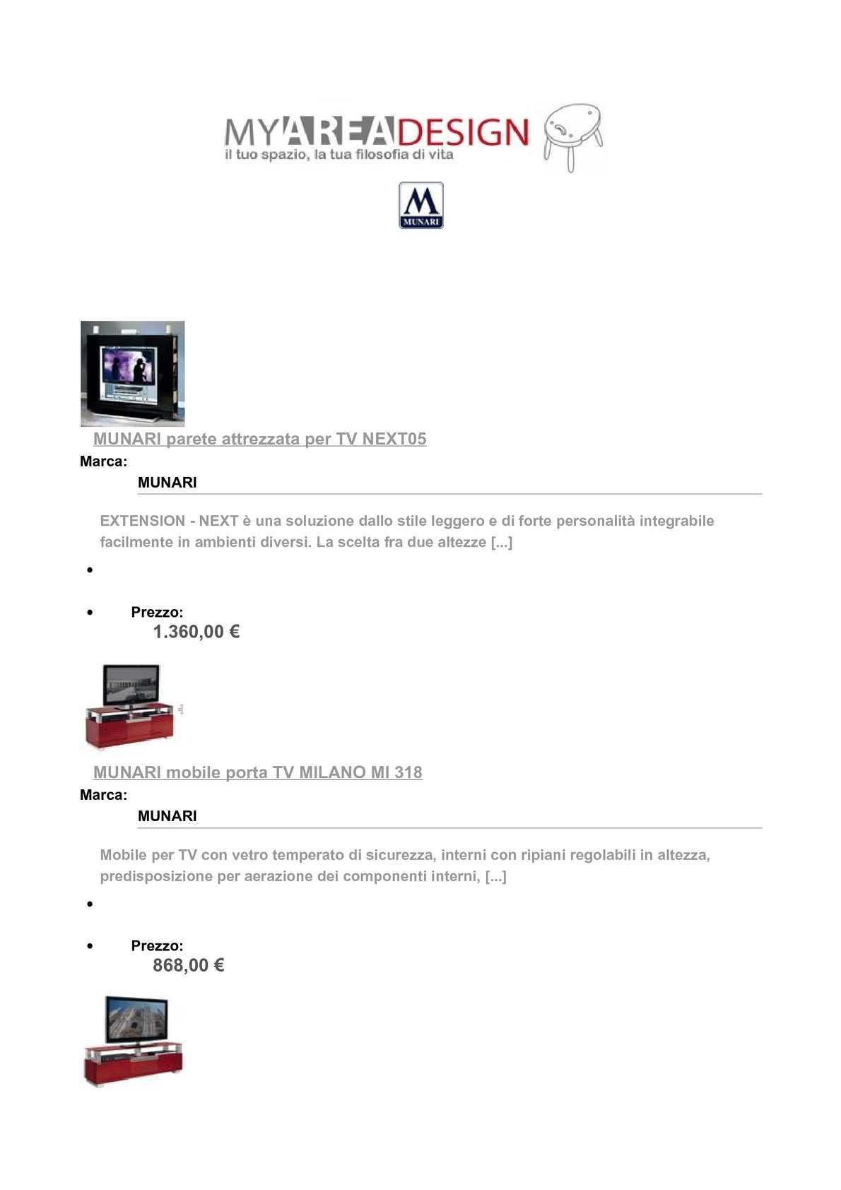 Mobile Porta Tv Cristallo Prezzi.Calameo Munari Su Myareadesing It