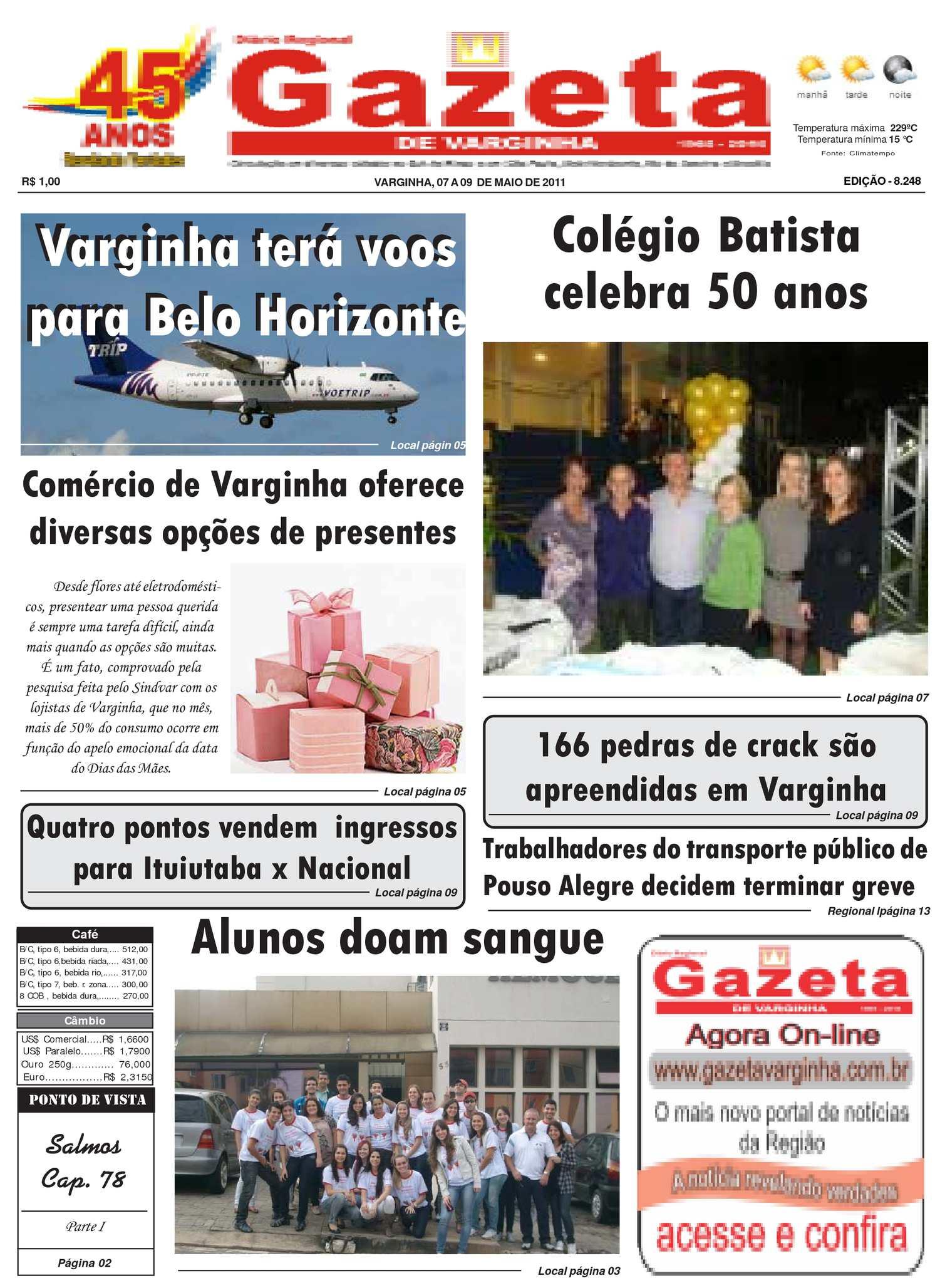 7e539b1cf6 Calaméo - Jornal Gazeta de varginha 07 A 09 -05-2011