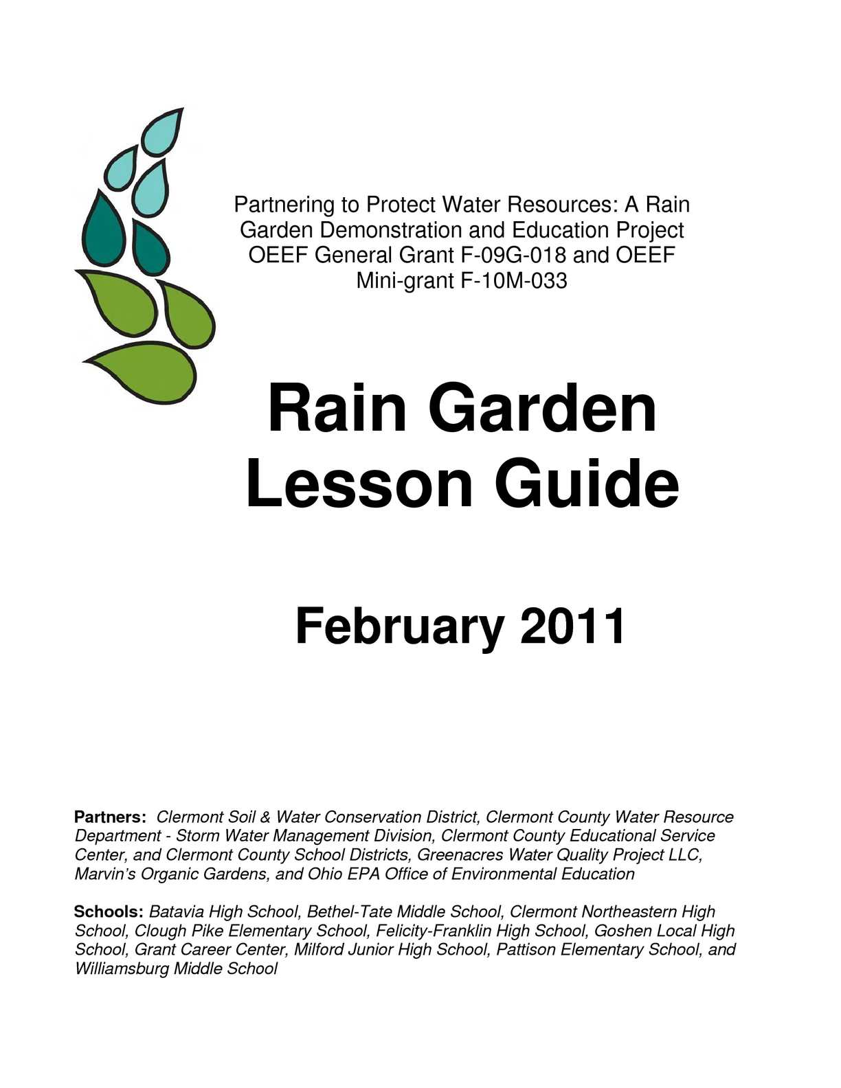 Calaméo - OH Rain Garden Lesson Guide for s, Grades 3 - 12 on rain barrels, rain gutter downspout design, rain gardens 101, rain harvesting system design, french drain design, dry well design, gasification design, rain illustration, rain construction, rain water design, bioswale design, rain art drawings, rain roses,