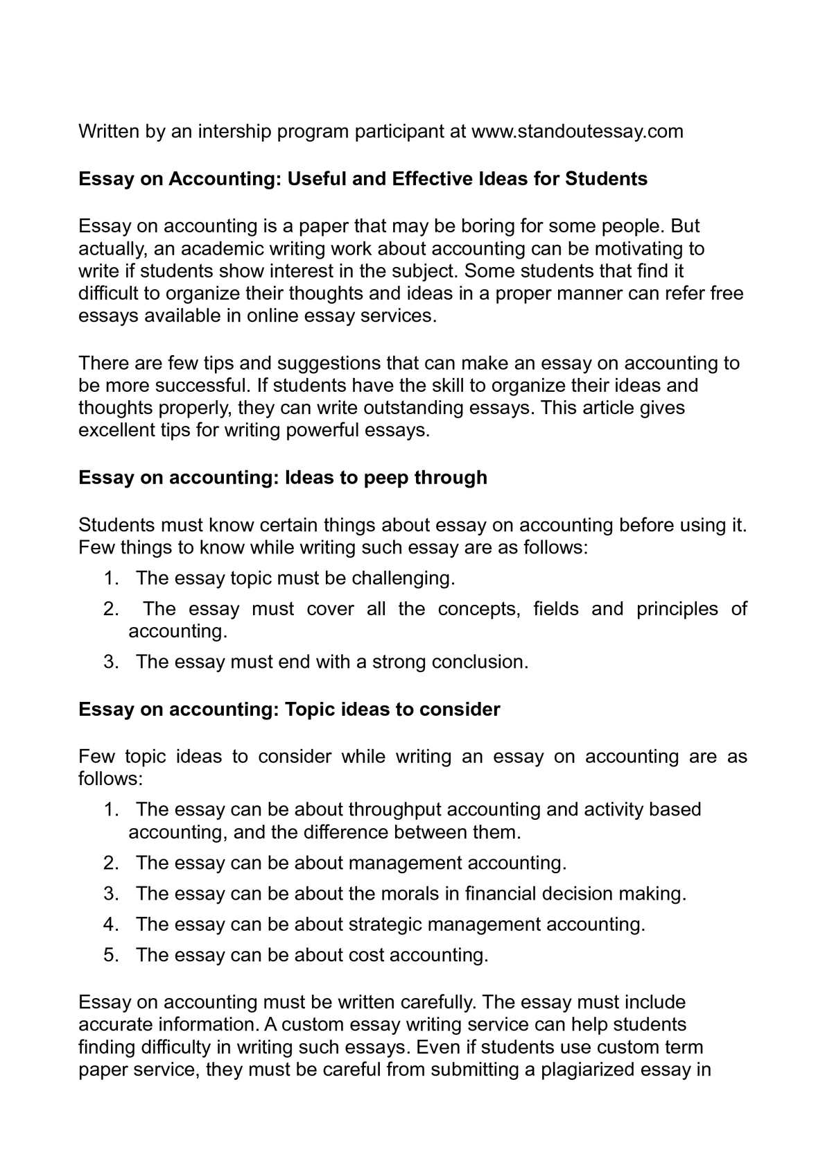 English Model Essays  High School Argumentative Essay Examples also Thesis Support Essay Calamo  Essay On Accounting Useful And Effective Ideas  Essay On Healthy Living