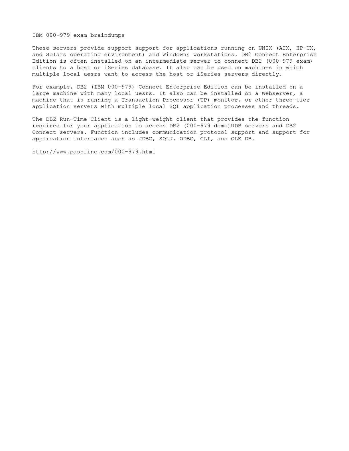 Calaméo - Free IBM 000-979 exam demo