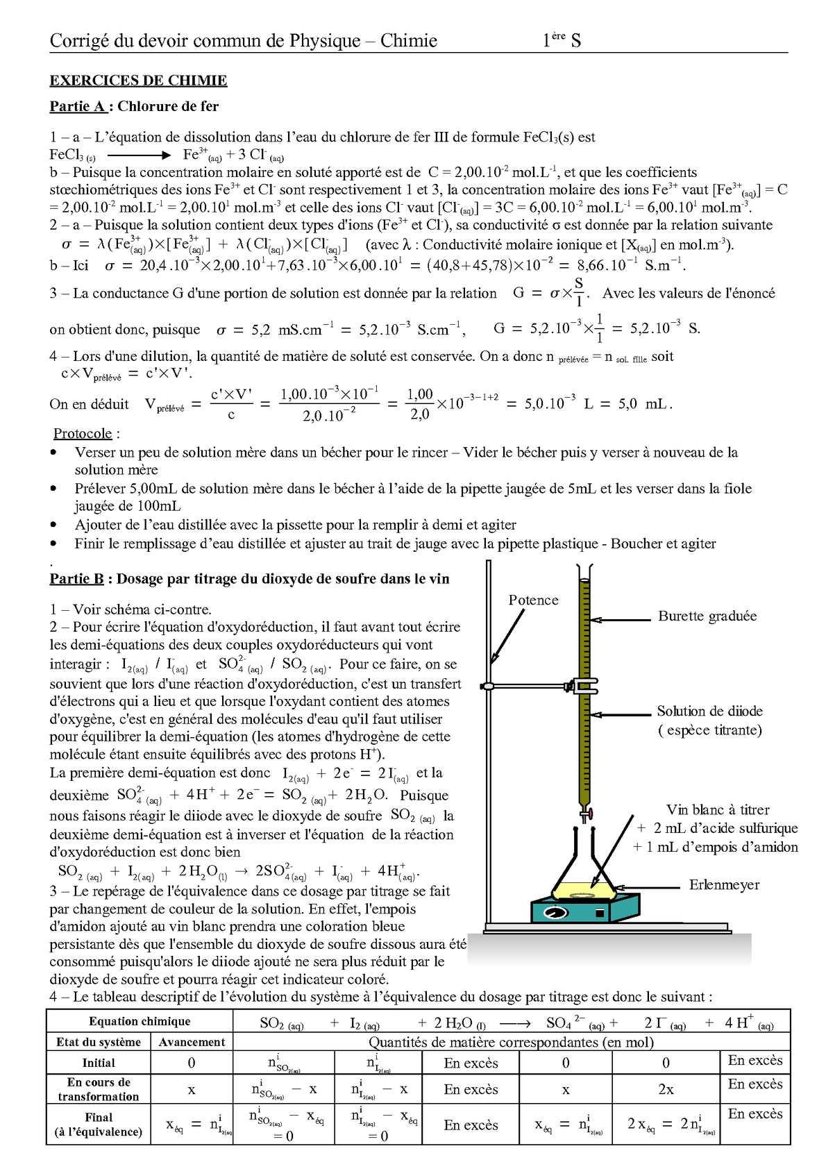 Calameo Ds Commun Premiere S Mecanique Dosages Corrige