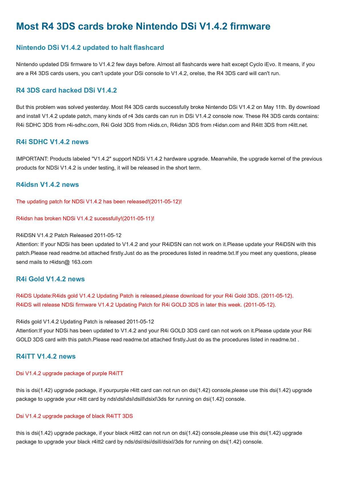 Calaméo - R4 3DS jailbreak - r4 3ds card broke dsi v1 4 2