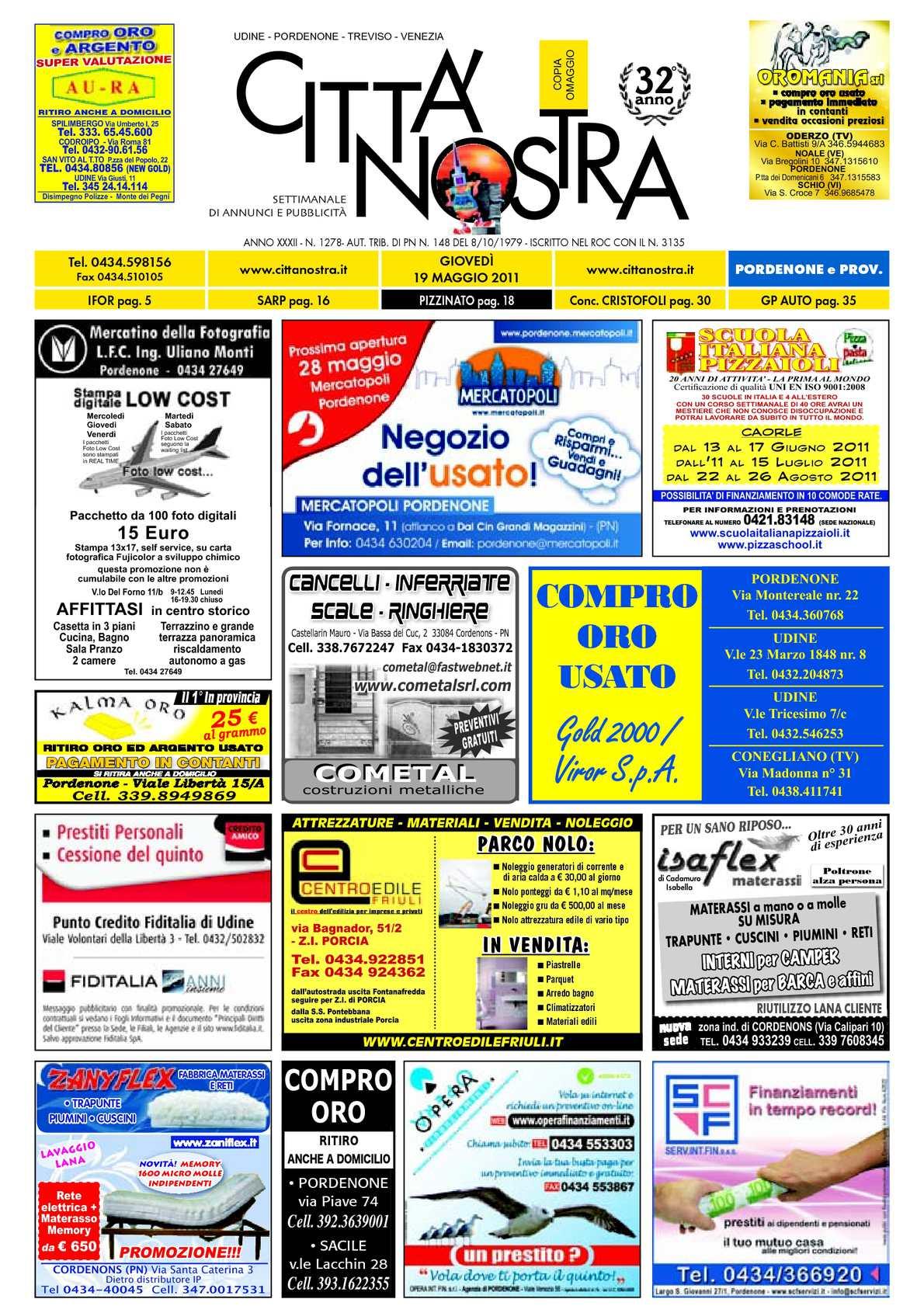 Calaméo - Città Nostra Pordenone del 19.05.2011 n. 1278 7d262c10491