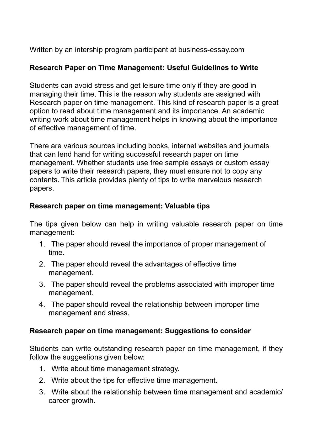 Calam o research paper on time management useful guidelines to write