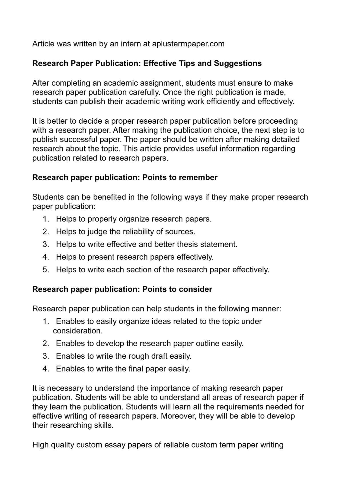 how to organize research for a paper