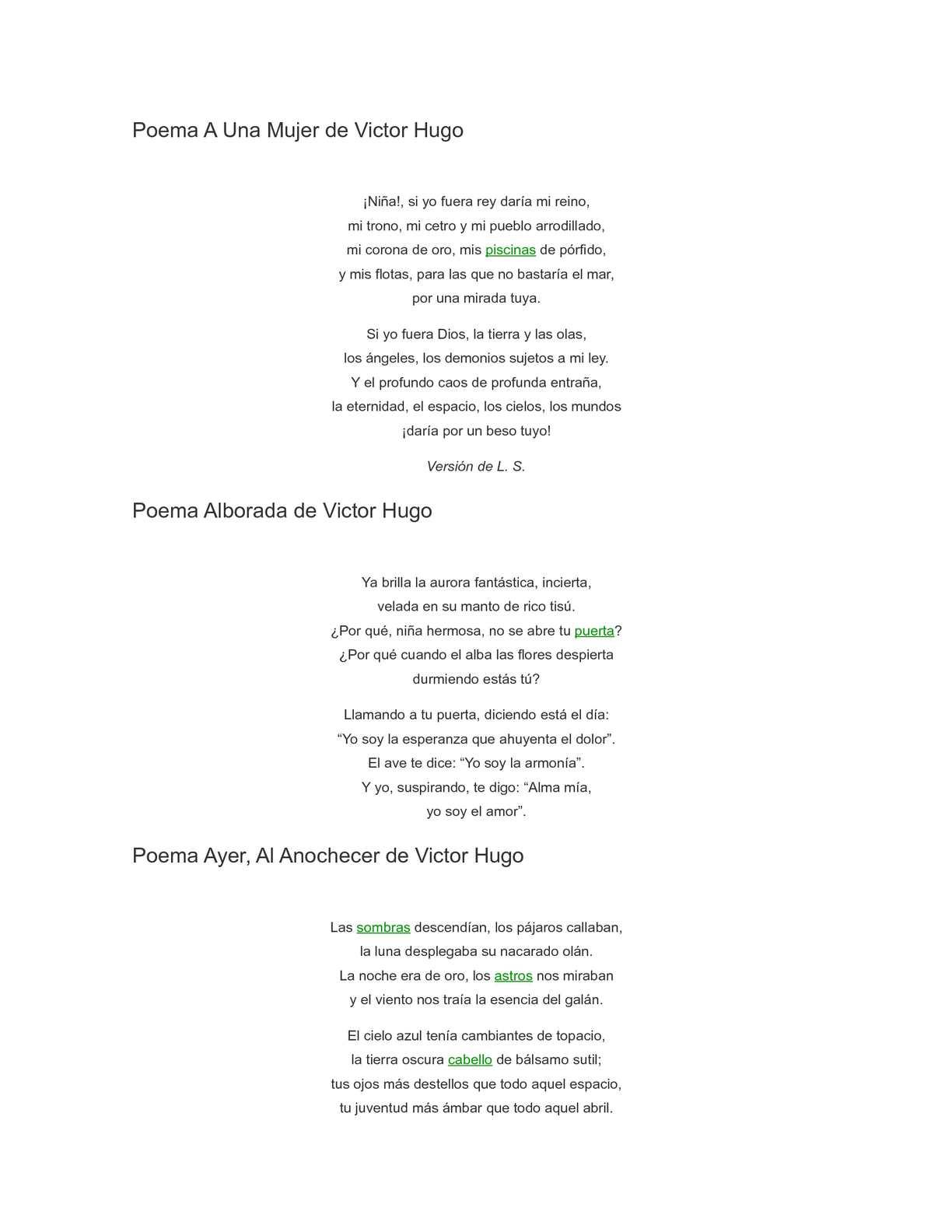 Calaméo Poemas De Victor Hugo