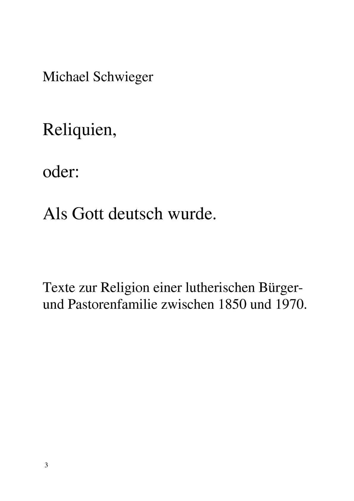 Calaméo Reliquien Oder Als Gott Deutsch Wurde