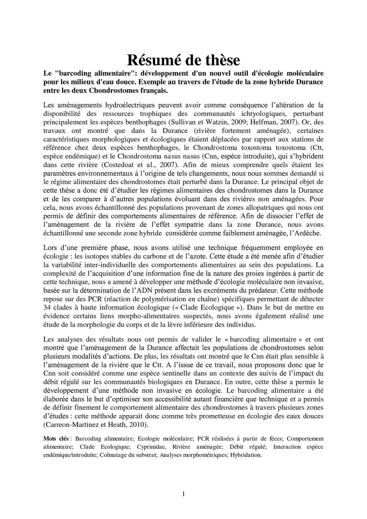 Exemple De These En Francais - Titre De La Thèse