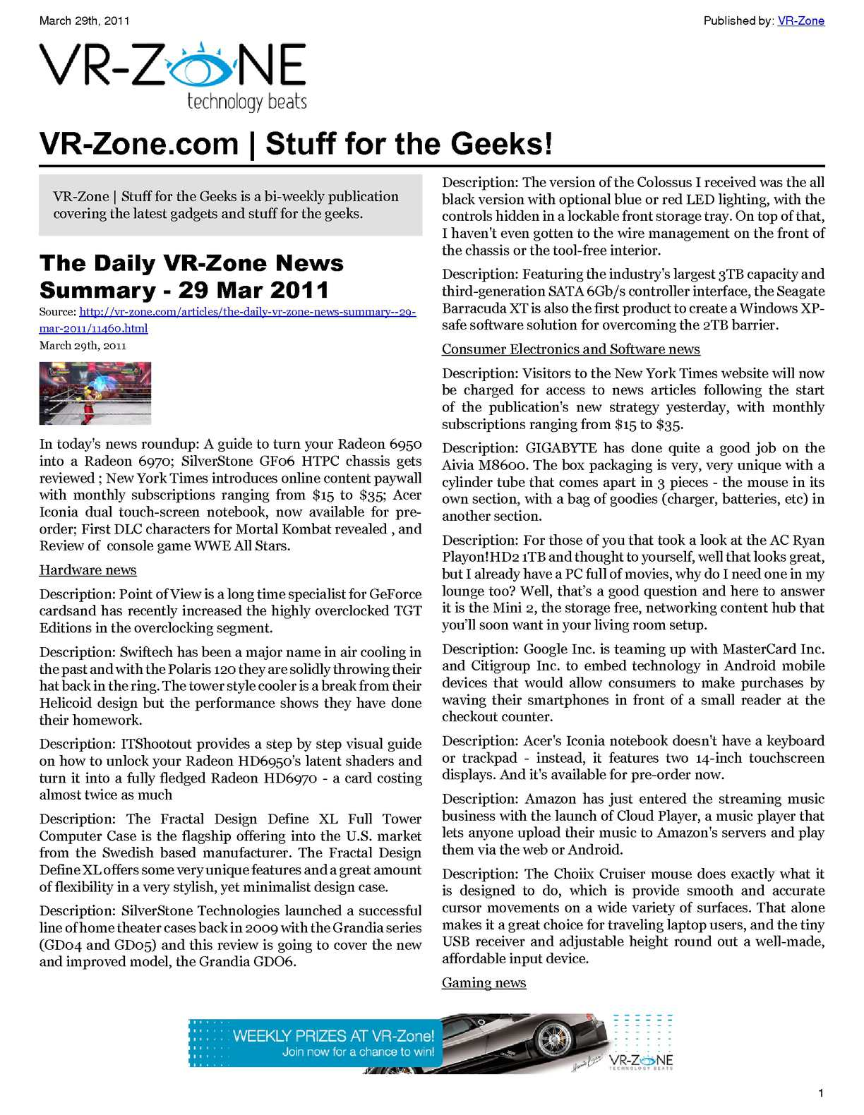 Calaméo - VR-Zone Technology News | Stuff for the Geeks!