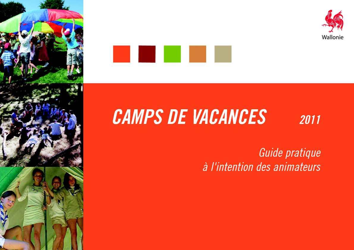 1a565ef0a739 Calaméo - CAMPS DE VACANCES - Guide pratique à l intention des animateurs