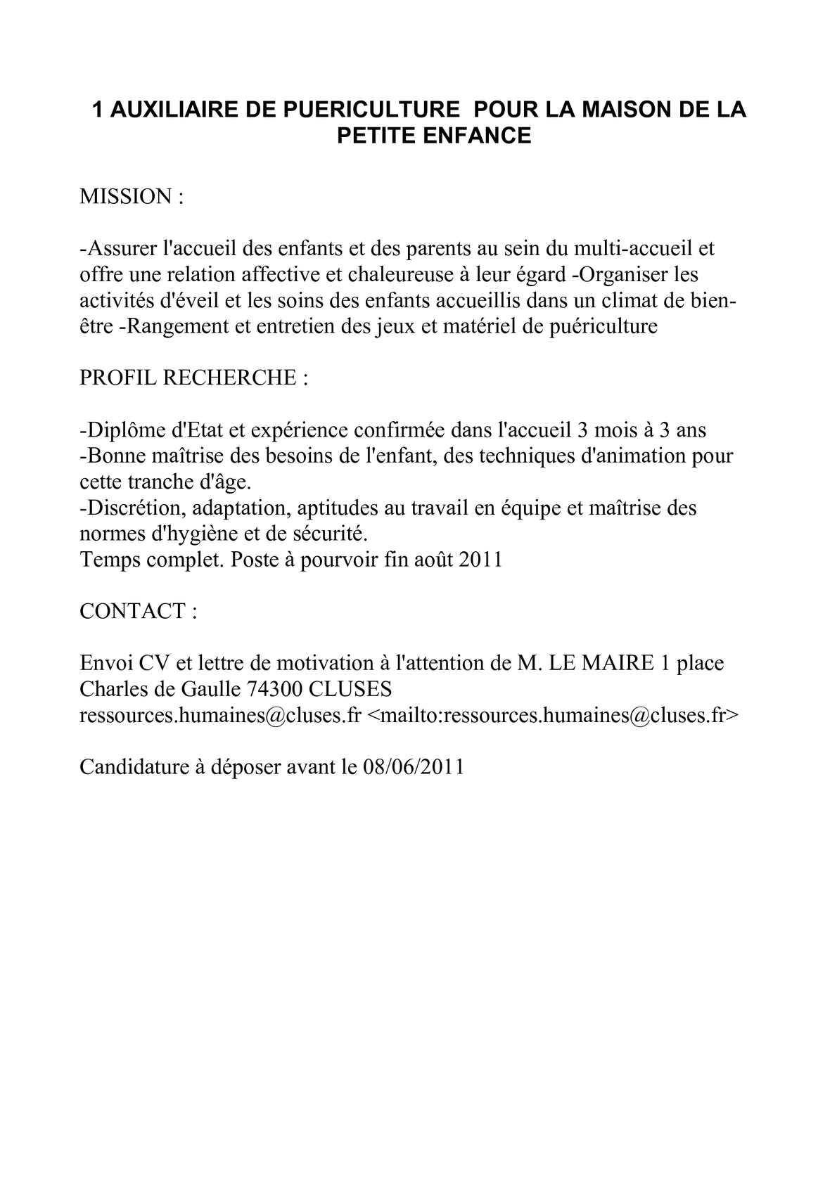 Offre D Emploi Restauration Collective Education Nationale
