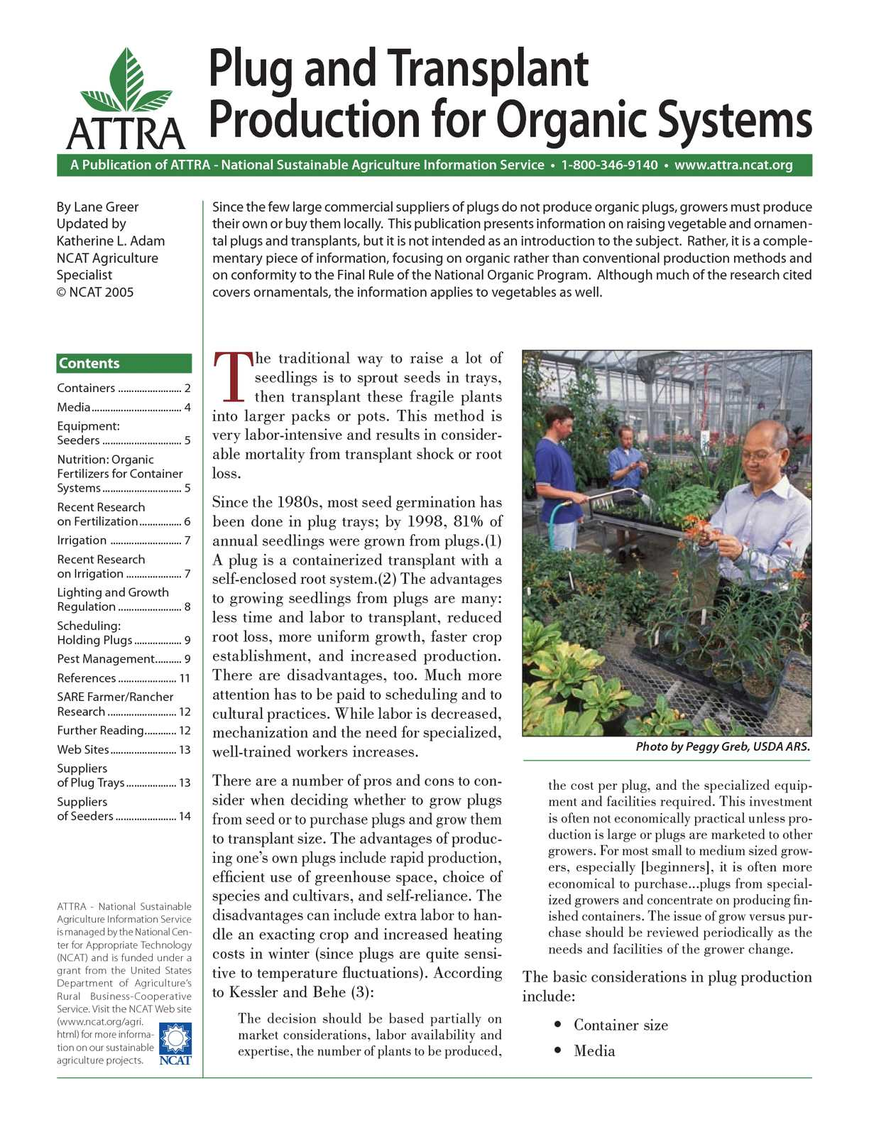 Calaméo - Plug and Transplant Production for Organic Systems