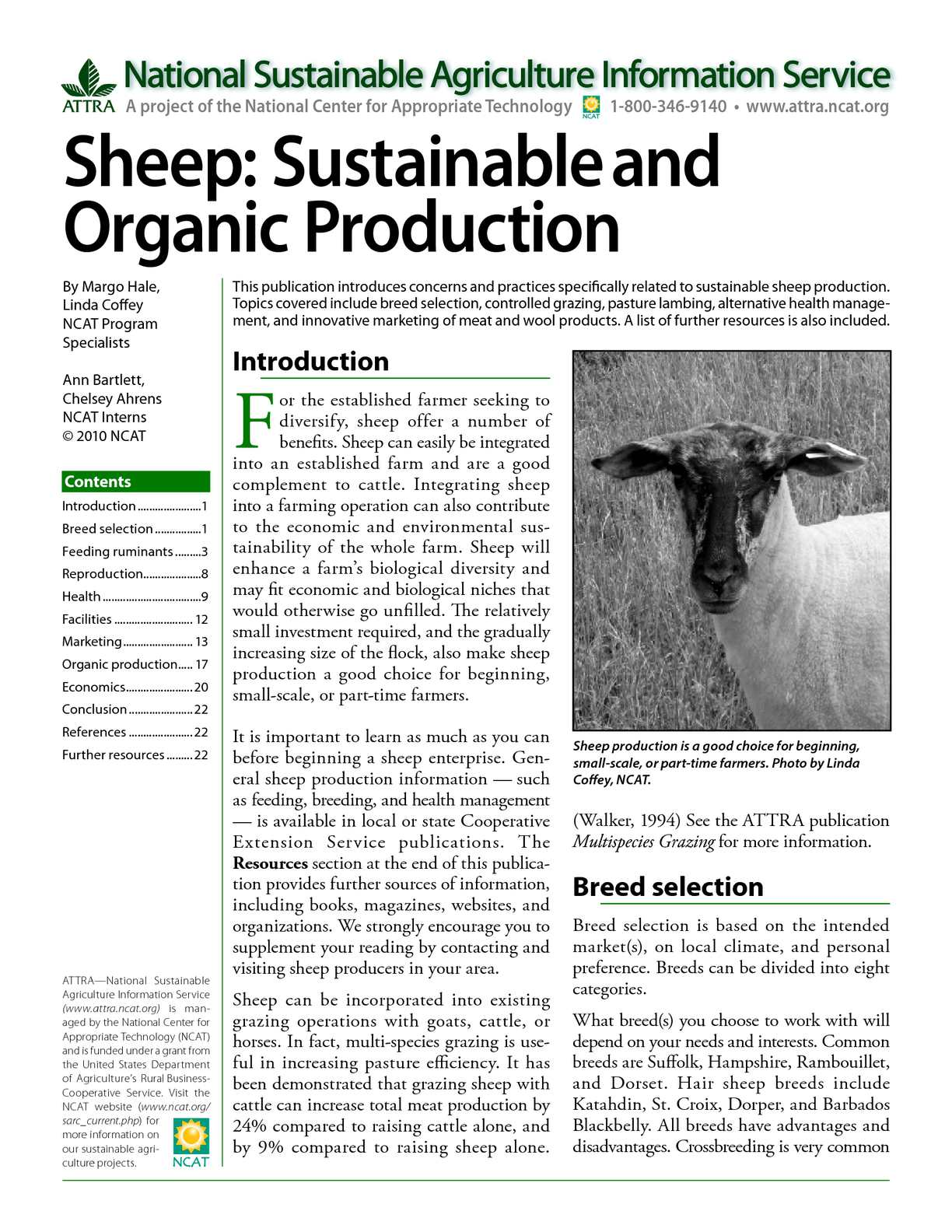 Calaméo - Sheep: Sustainable and Organic Production