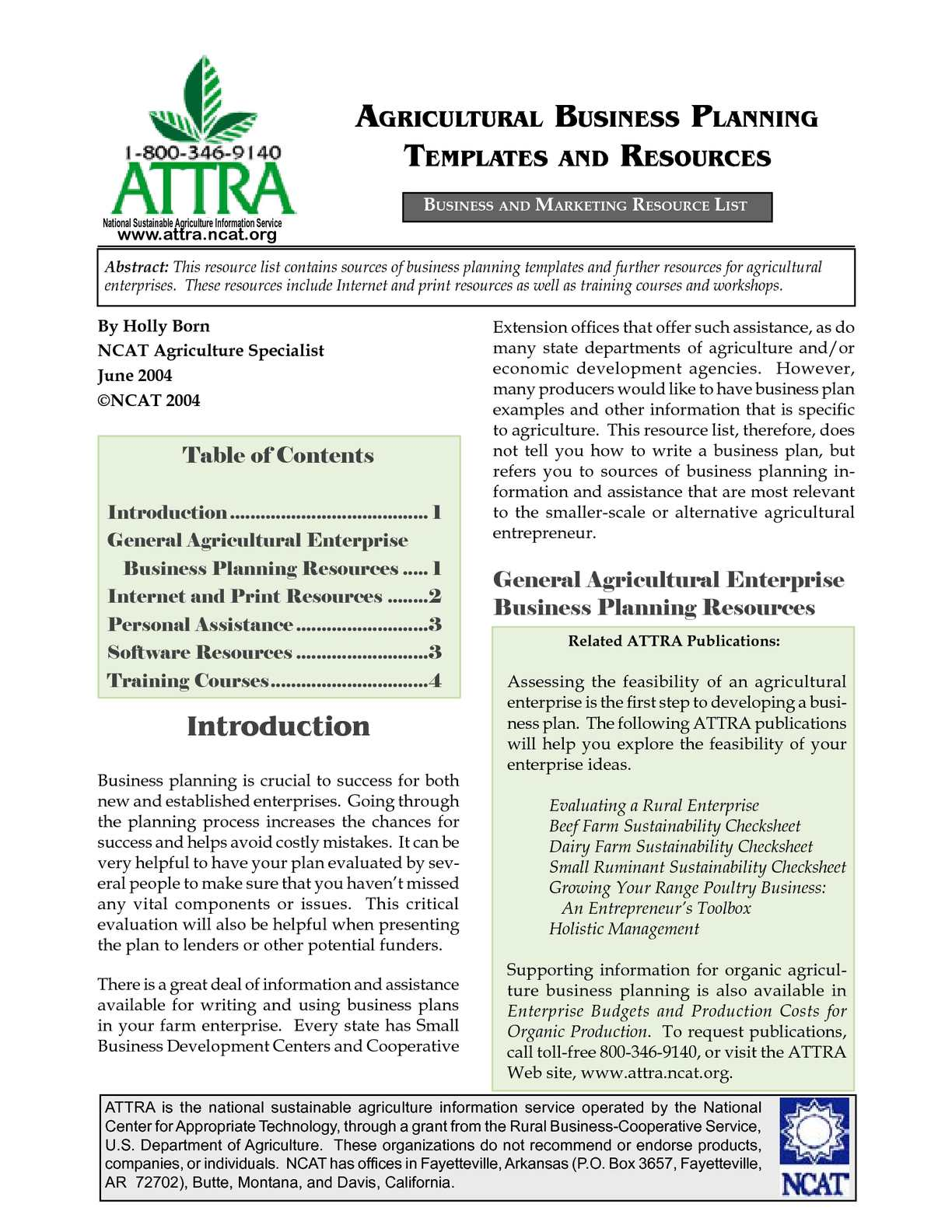 Calameo Agricultural Business Planning Templates And Resources