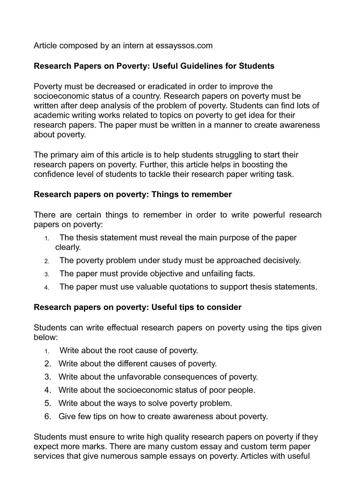 Thesis poverty essay citation games