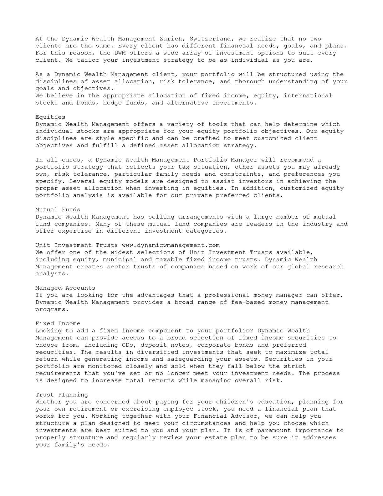 dc6a9e8f5e Calaméo - Dynamic Wealth Management Zurich