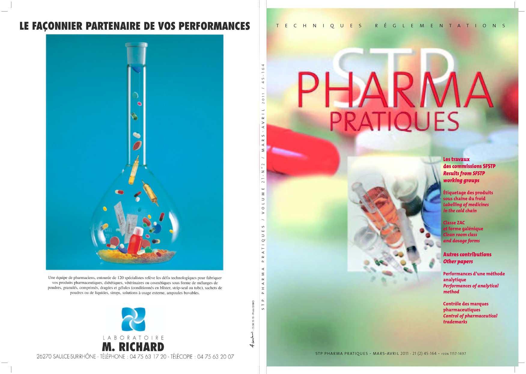 Date d'expiration de la FDA et des tests de stabilité pour les médicaments humains