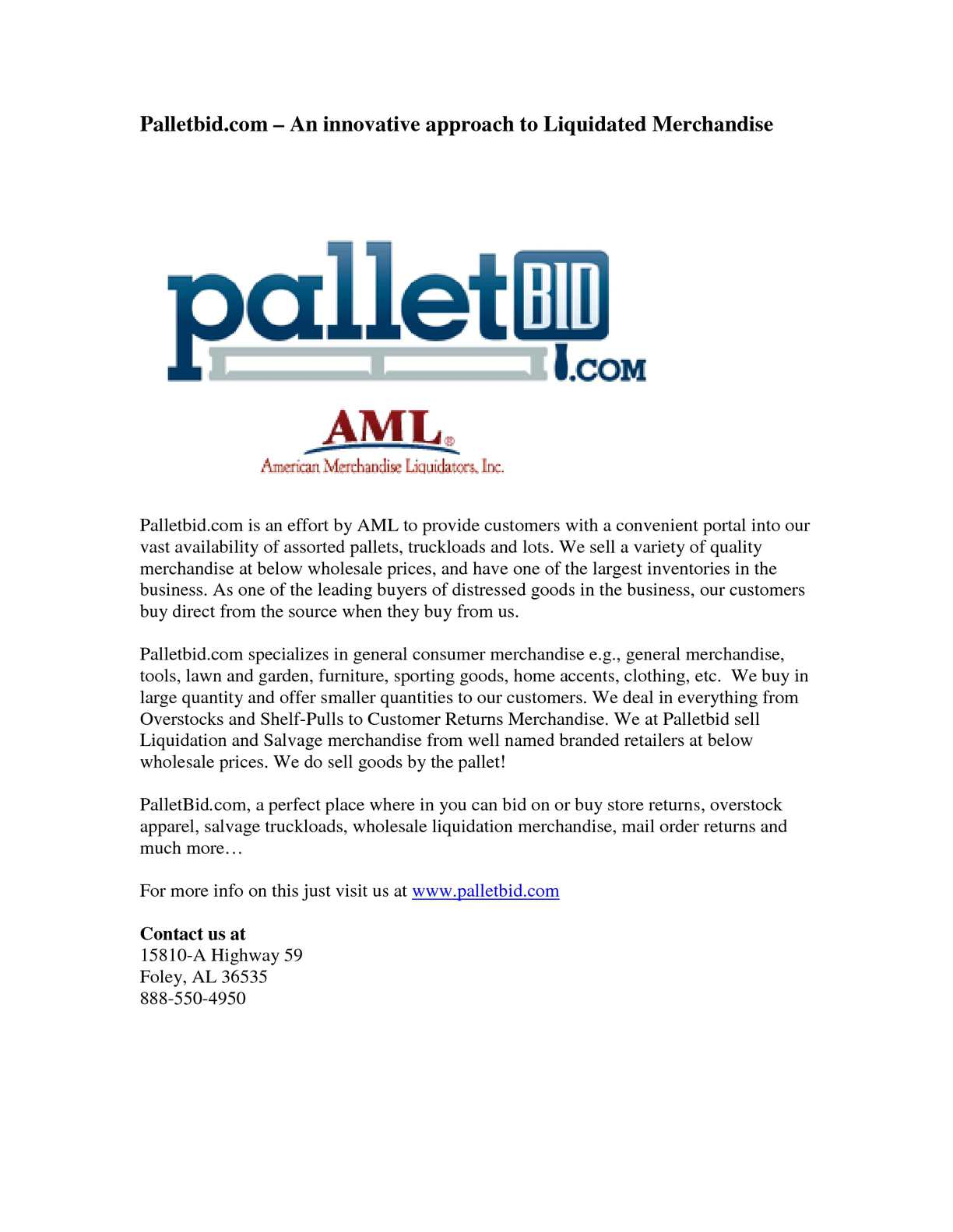 Calaméo - Palletbid com – An innovative approach to