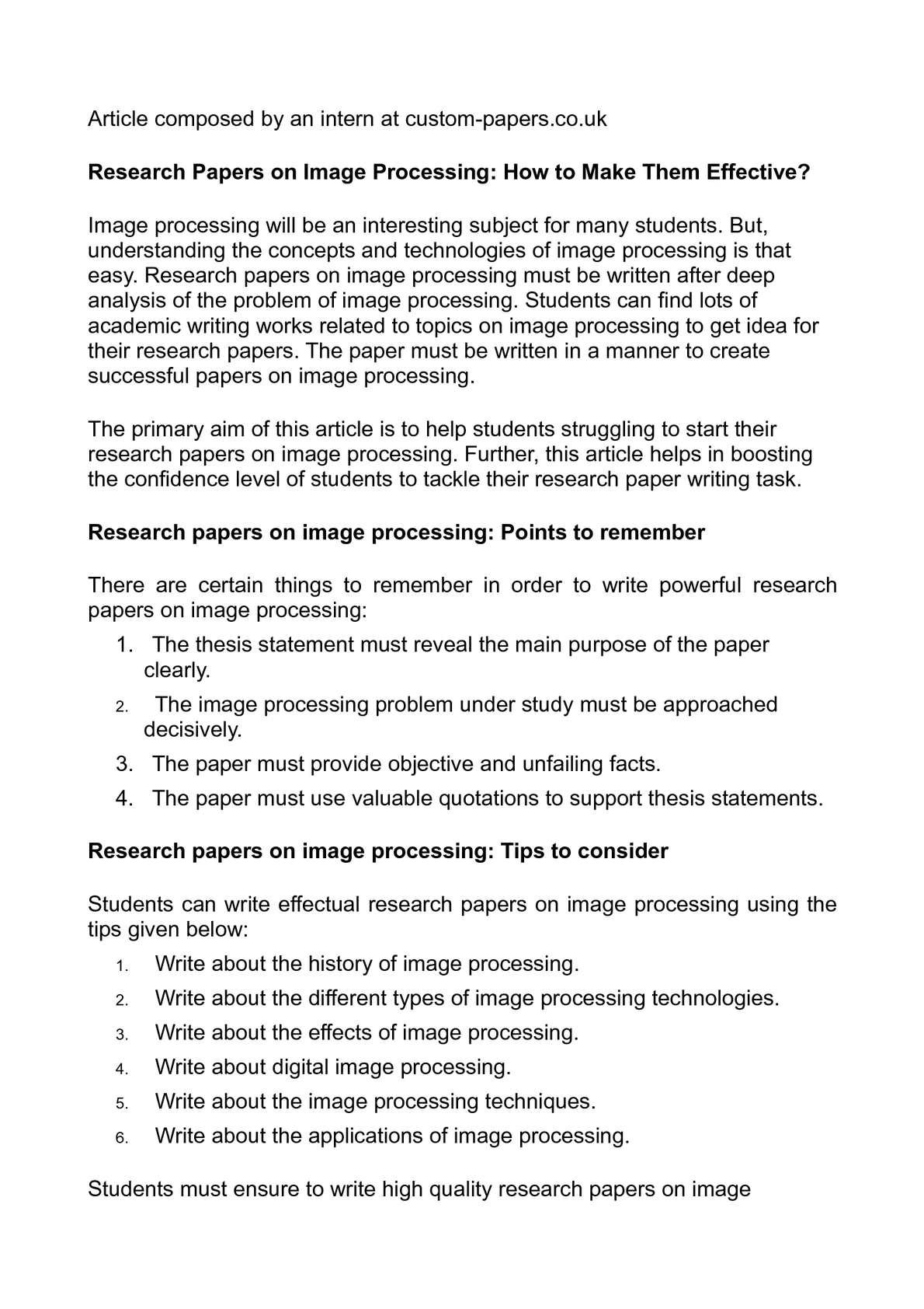 image processing research papers 2017