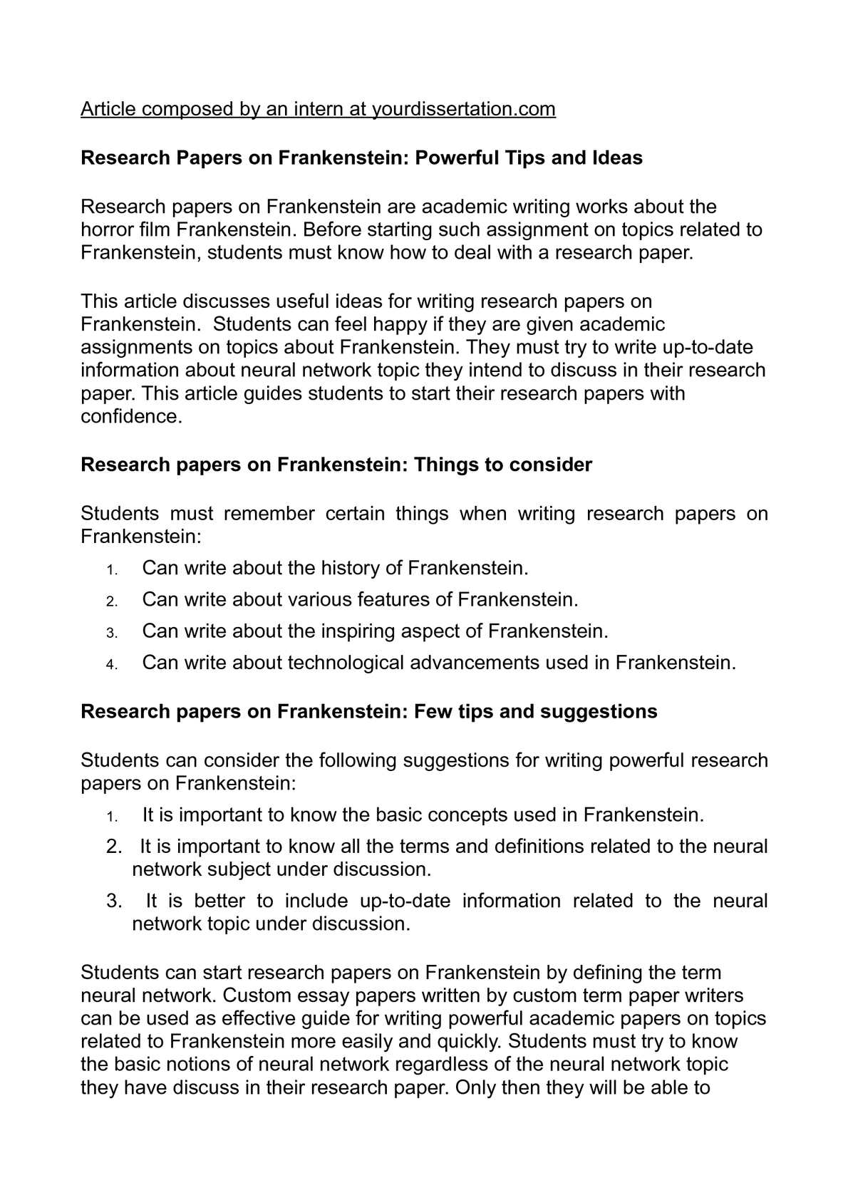 frankenstein research paper thesis