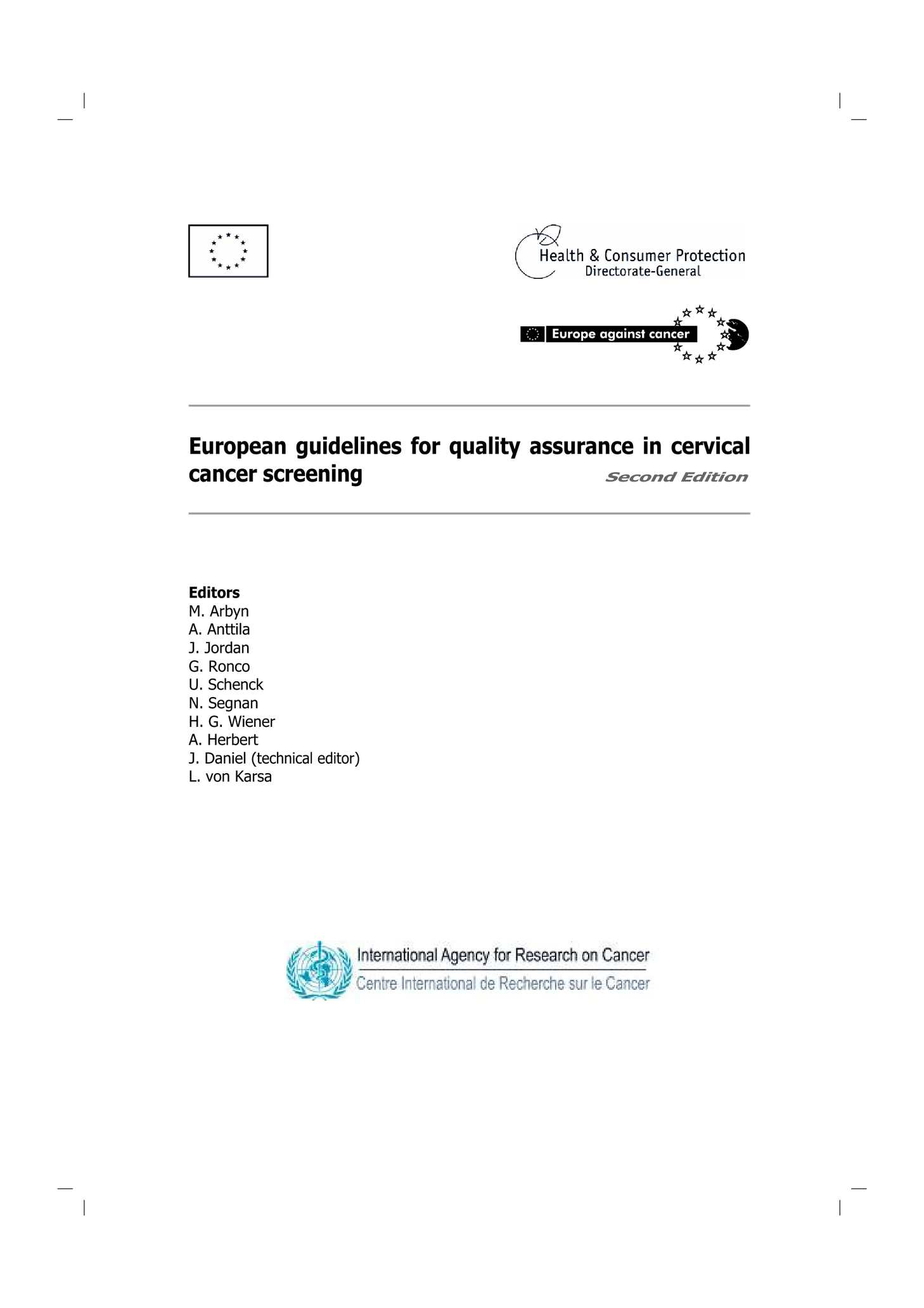 Calam O European Guidelines For Quality Assurance In