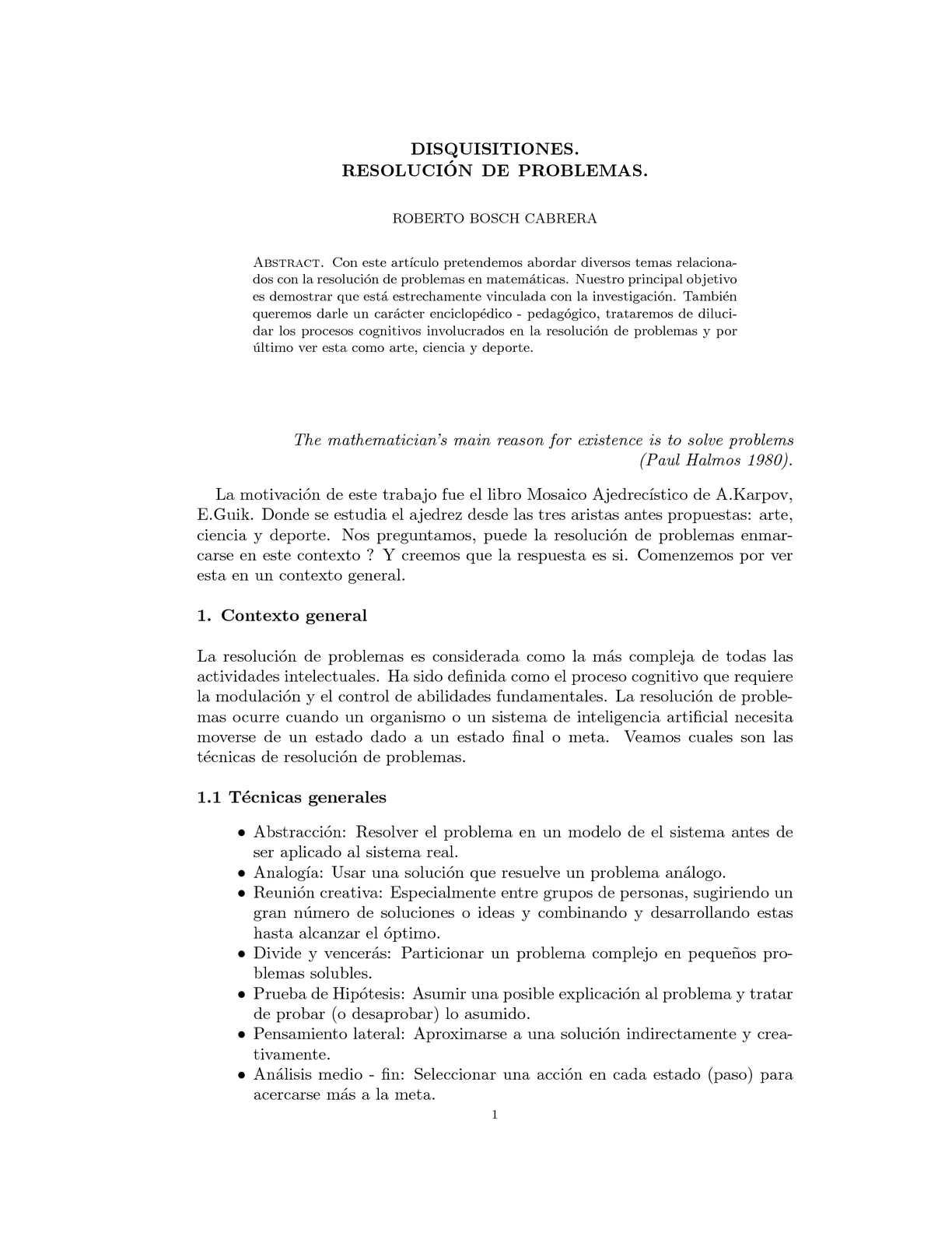 Calaméo - DISQUISITIONES  RESOLUCIÓN DE PROBLEMAS  ROBERTO BOSCH CABRERA