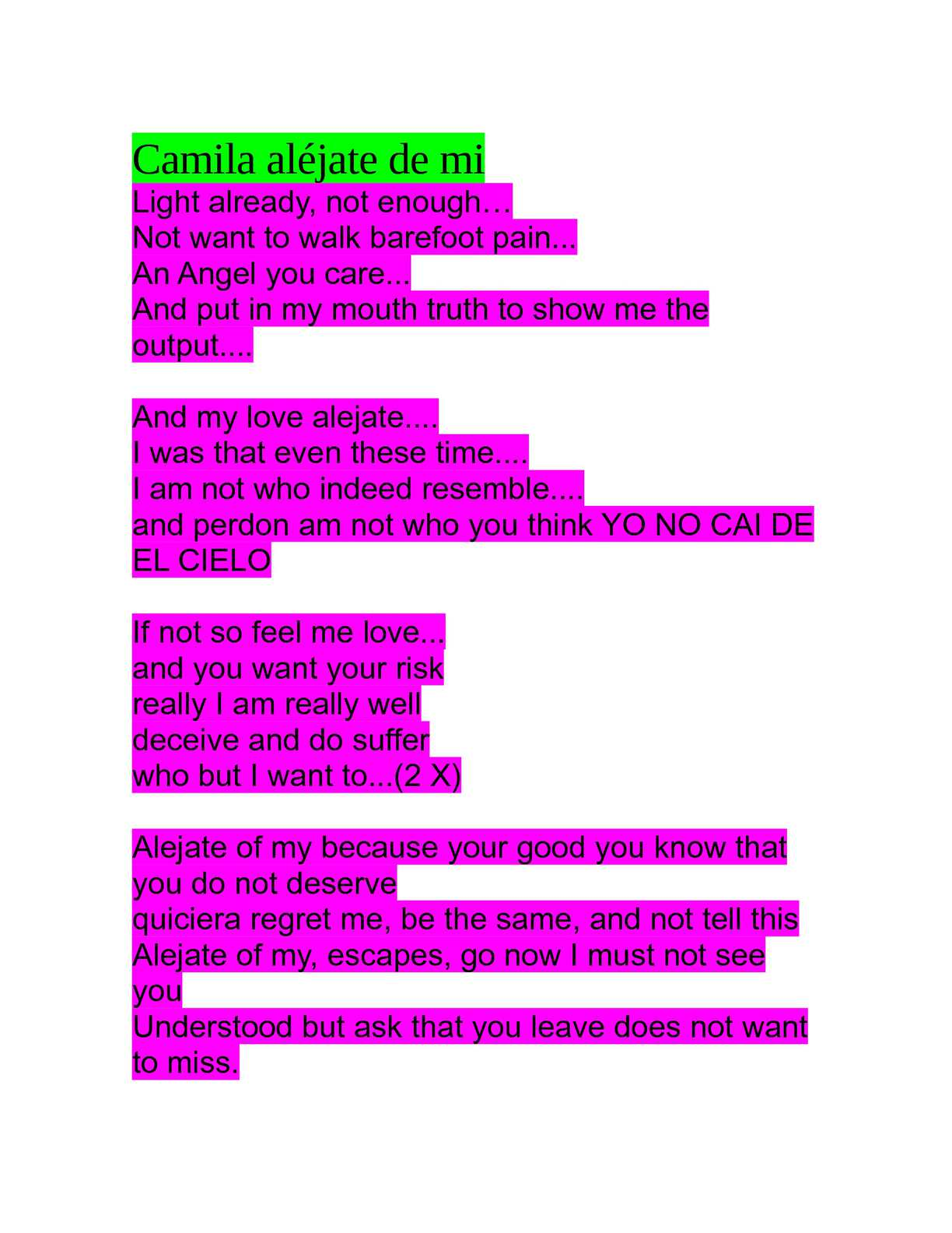 Letra de la cancion love like you do en ingles y español
