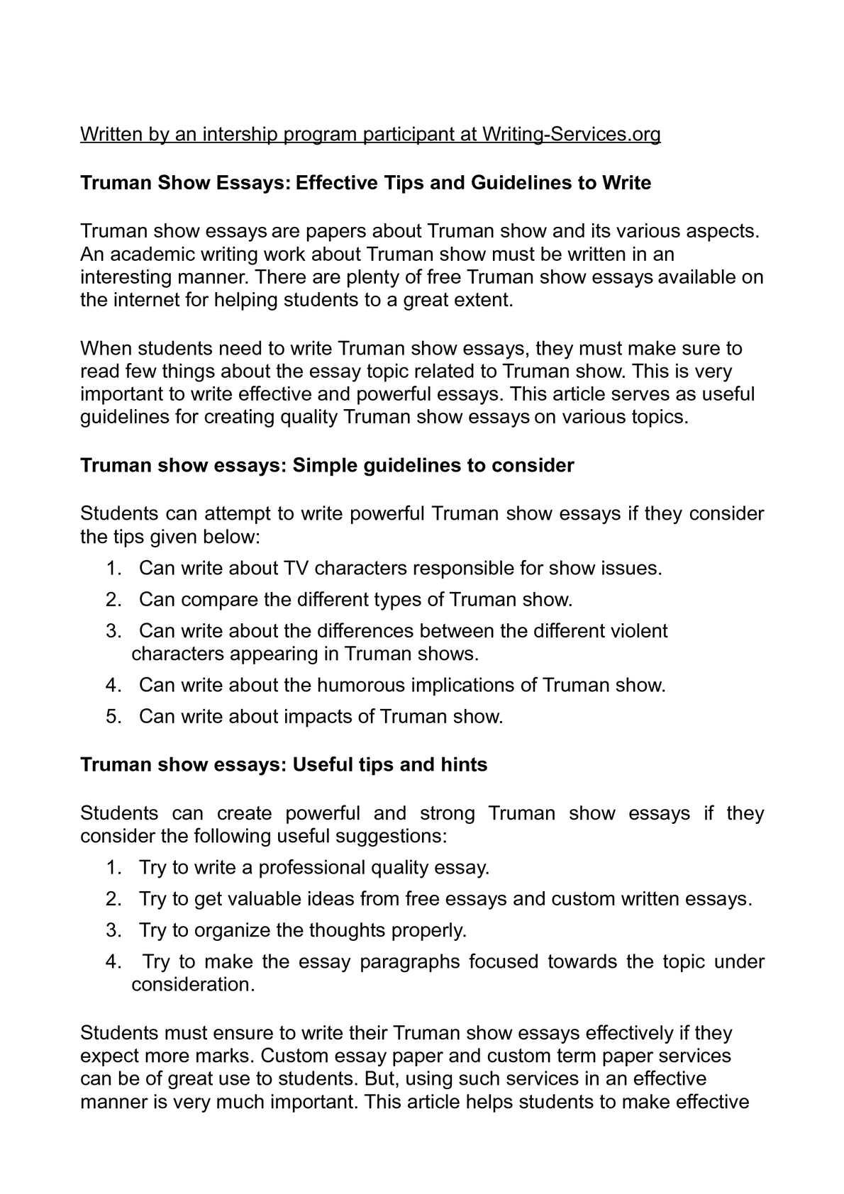 Truman essay question custom article editor service for university