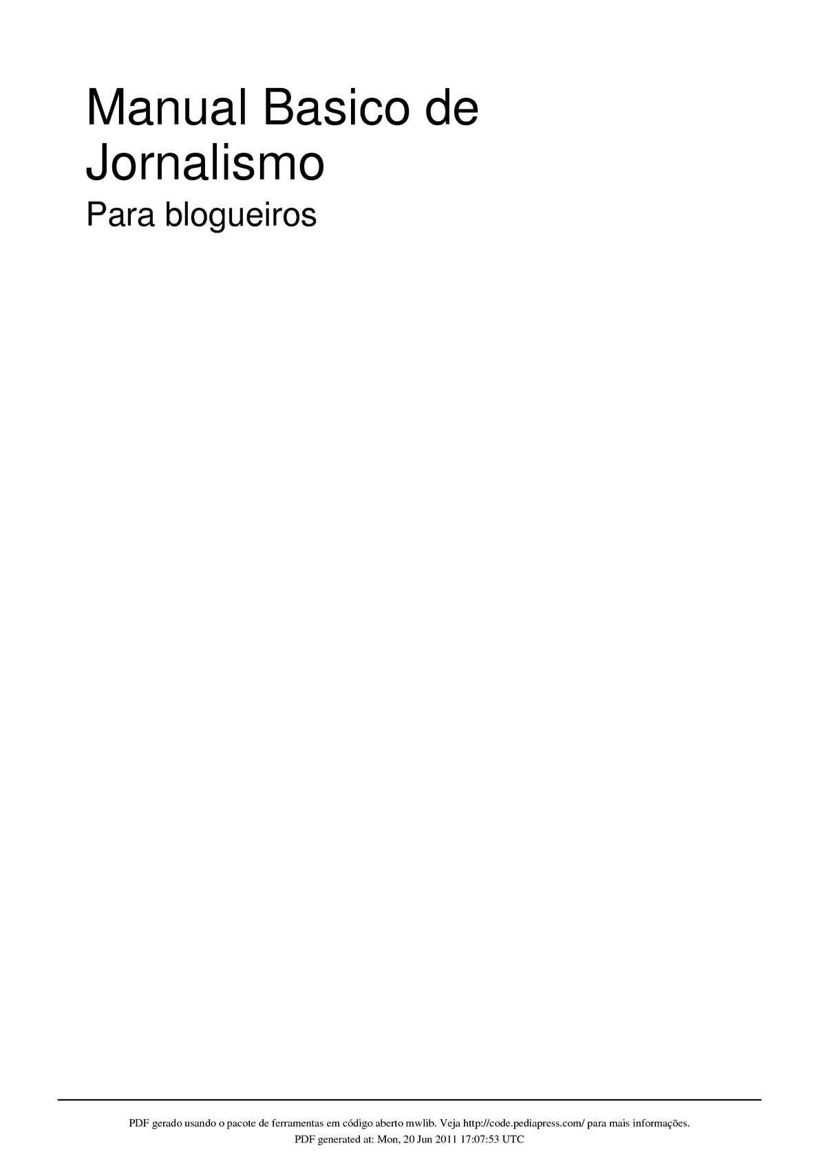 Calaméo - Manual de Jornalismo para blogueiros ac75b662a570c