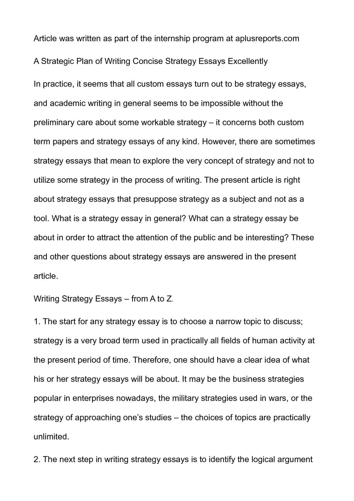 Essay About English Language  How To Write An Essay For High School Students also Thesis Statement For An Essay Calamo  A Strategic Plan Of Writing Concise Strategy  Essays About Health